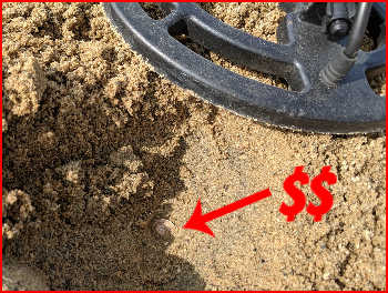 Finding Money Metal Detecting at Virginia Beach
