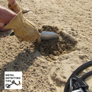 Metal Detecting with a Hand Shovel