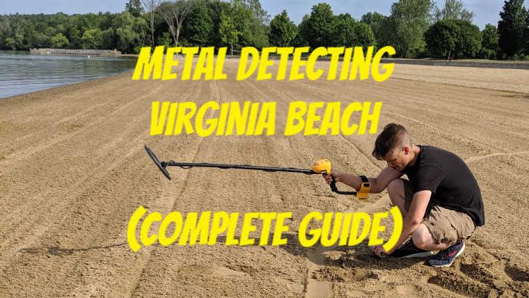 Metal detecting at Virginia Beach