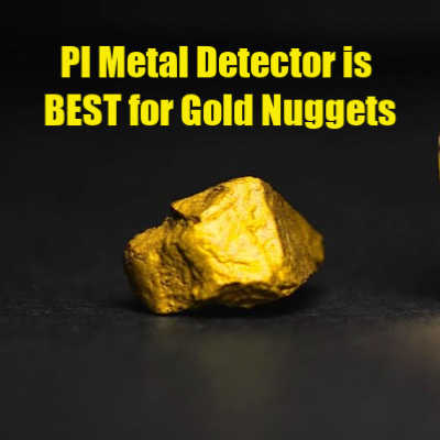 Gold Nugget Found using Pulse Induction Metal Detector