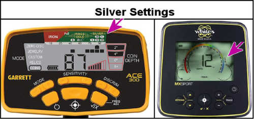 Settings on Metal Detector for Silver