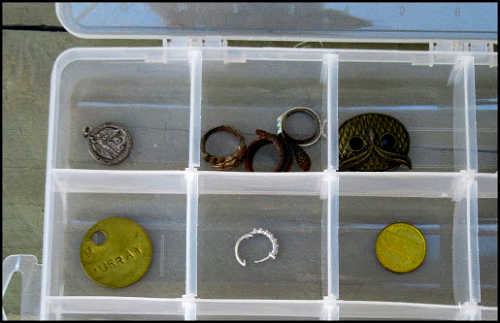 "Storage Case for Bulky ""Finds"" When Metal Detecting"
