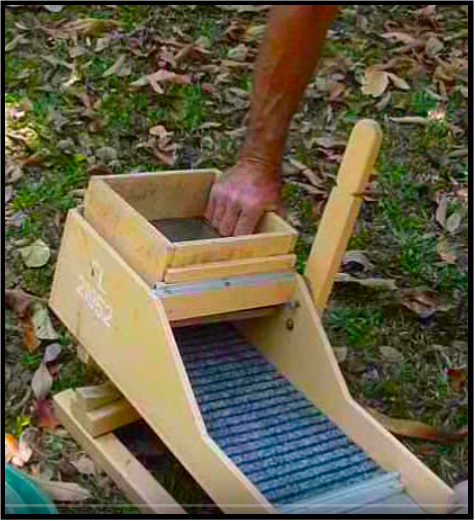 Rocker Box for Gold Prospecting